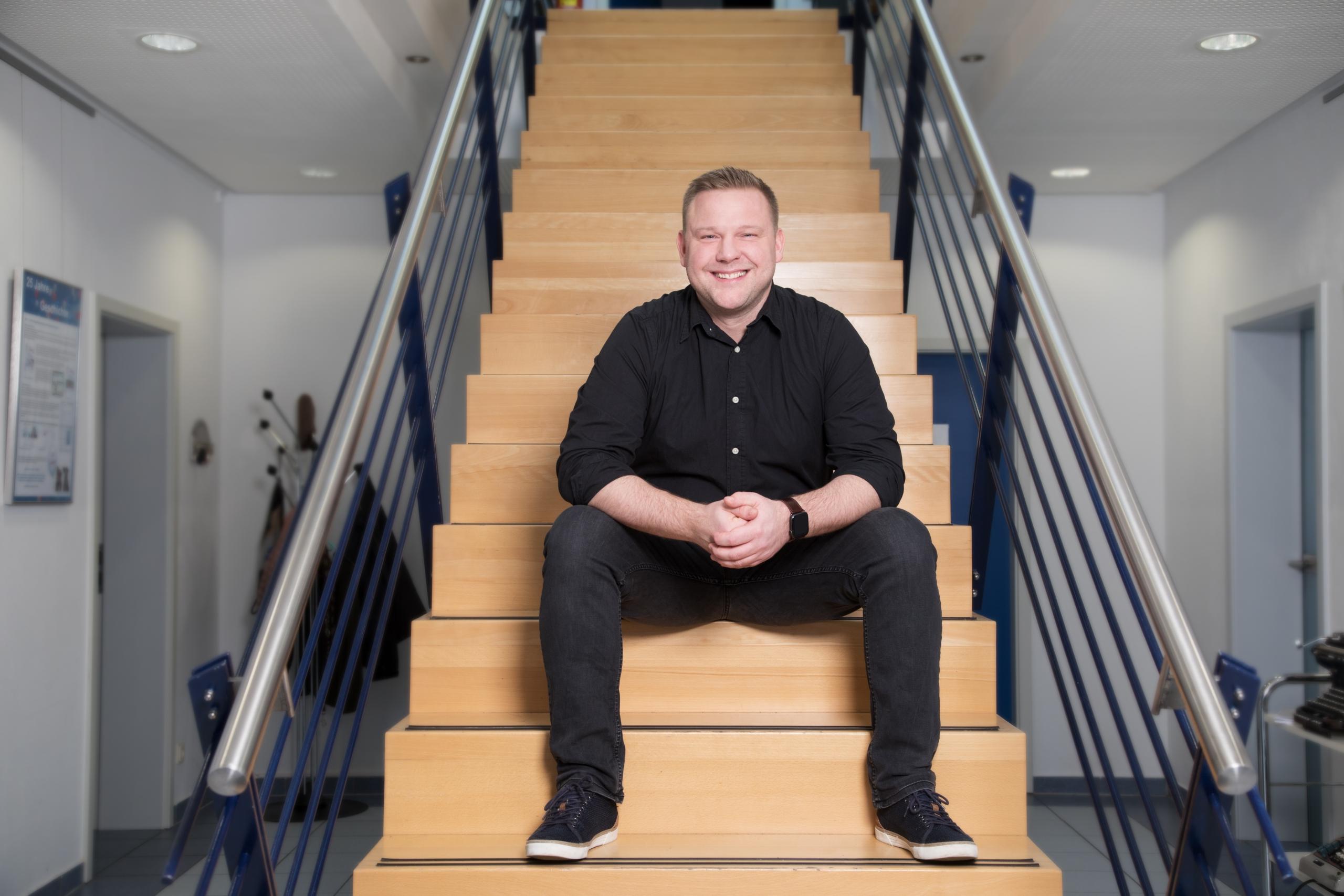 David – auf unserer Treppe